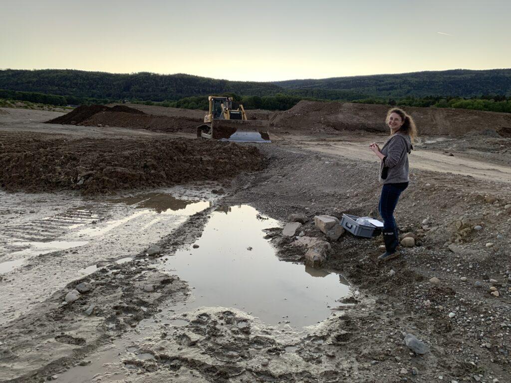Pond where natterjack toad spawn was found. Foto: Jérôme Pellet